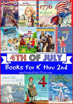 4th of July themed books for k thru 2nd grade readers