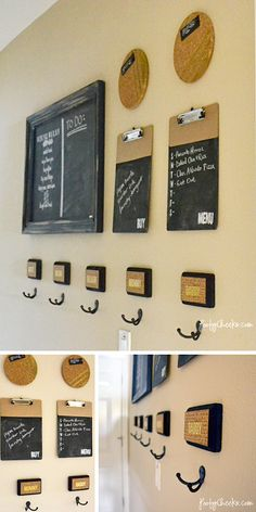 Our Home Command Center: $30 Project via @Kelsey Myers Myers Myers Myers of Poofy Cheeks
