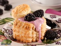 Lemon-Blackberry Cream Puffs - A sweet treat for spring!