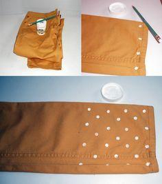 DIY Polka dot pants. I need to do this!