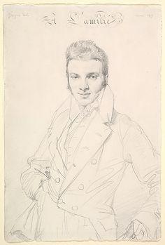 Portrait of Jean-Joseph Fournier Jean Auguste Dominique Ingres (French, Montauban 1780–1867 Paris) Date: 1815 Medium: Graphite on wove paper...