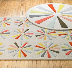 Pinwheel Round Rug. Baby, it's a sale! 40% off select baby items. #baby #sale #cute