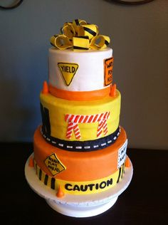 Construction Themed Cake — Children's Birthday Cakes construct parti, bday, child birthday, construction birthday, construct theme, 2nd birthday, themed cakes, construct birthday, birthday cakes