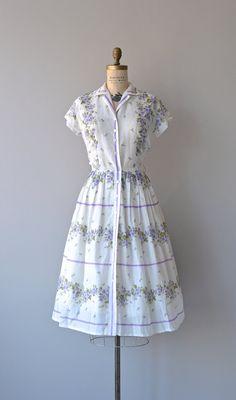 Lilac Trellis vintage 1950s summer dress. #vintage #1950s #dresses #fashion #purple summer dresses, vintag dress, shirtwaist dress, 1950s dresses, dress fashion, stripe, floral dresses, trelli