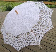 Battenburg Full Lace Umbrella Wedding Bridal by TableclothShop,ONLY $19.99