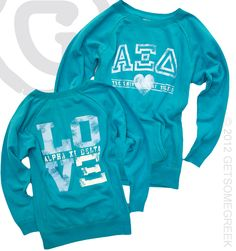 Cute Alpha Xi Delta sweatshirts!