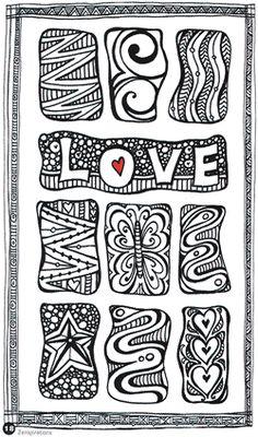 """Zenspirations, Letters  Patterns by Joanne Fink"" so many fun doodles"