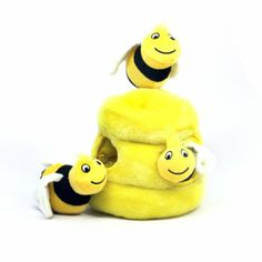 Amazon.com: Plush Puppies Hide-A-Bee Pet Toy, Large: Pet Supplies