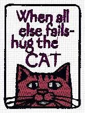 WHEN ALL ELSE FAILS-HUG THE CAT
