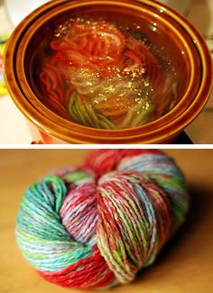 How-To: Crock Pot Yarn Dyeing