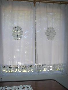 Cortinas a crochet para ventanas