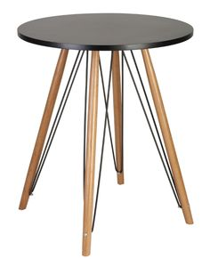 Tables chairs side tables on pinterest chaise for Kleiner schwarzer tisch