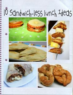 Back to School! 10 sandwich less lunch ideas - These are simple ideas not really the cute animal shaped type of lunch ideas. Adults can use these too!