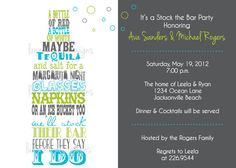 Invitation- Stock the Bar