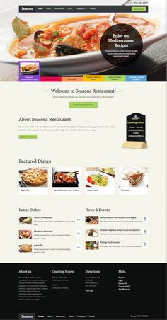 Seasons WordPress Food Theme