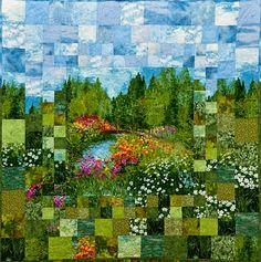 monet garden, inspiration, quilt patterns, colors, gardens
