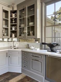 //grey kitchen + corners