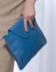 Large Leather Clutch Bag in Cobalt Blue £28  Leather.