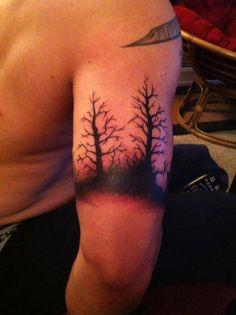 Forest tattoo halfway done #forest #tattoo