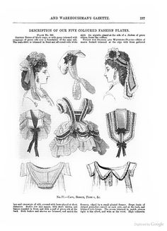 Caps, bodice, fichus (collars) & chemises, August 1870, The Milliner and Dressmaker