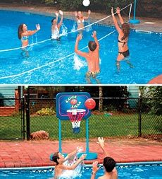 Swimline® Cool Jam Basketball/Volleyball Combo Pool Game