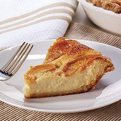 Sweet Peach Custard Pie