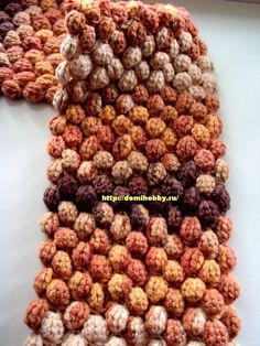 Crochet scarf from knobs