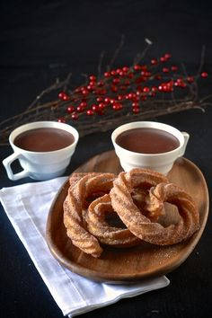 Spanish Hot Chocolate and Coconut Churros