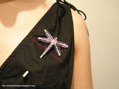 Beaded 'Dragonfly' Brooch \pin PATTERN