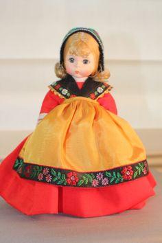 "Precious 8"" Madame Alexander country doll -- Sweden. #vintage 1980s.  Buy: https://www.etsy.com/listing/167166701/madame-alexander-8-sweden-doll?ref=shop_home_active_6"