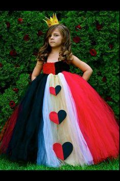 Queen of Hearts, Red Queen girls costume