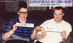 Newlywed Game Night with Printable | Love to do for Valentines!!