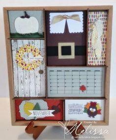 Stampin' Up! November Interchangeable Calendar - Thanksgiving - by Melissa Davies @ rubberfunatics