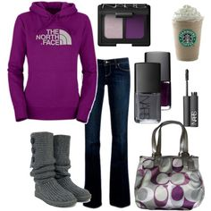 """""""North Face, Uggs, and Coach? I'm in Heaven."""" by chelseawate on Polyvore"""