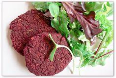 Beet Burgers....vegan.
