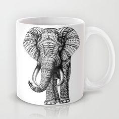 Ornate Elephant Mug by BioWorkZ - $15.00