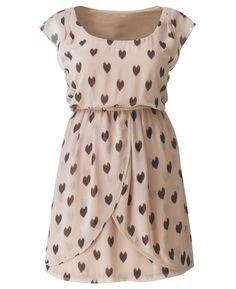 AX Paris Heart Print Cross Over Dress