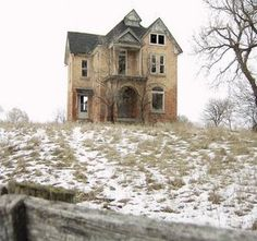 Abandoned old house that must have once been the scene of much life.  Makes me want to write the possible stories that could have occurred there...