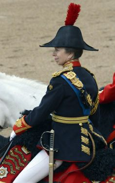 Trooping the Colour.  The Princess Royal on Horseguards' Parade during Trooping the Colour,16 June 2012.