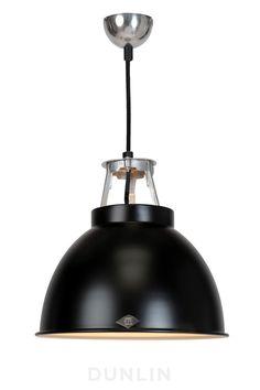Original BTC Titan 1 Pendant Light. Black