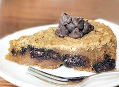 GF Chocolate Chip Oatmeal Pie by chocolatecoveredkatie #Pie #Oatmeal #GF