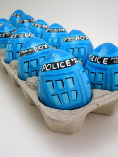 Doctor Who Tardis Easter Egg hand painted. Bigger on the inside?  :)
