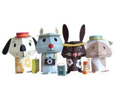 SOOOOOO CUTE!  The Pippa & Ike Show — Make at home animal kits * Mibo