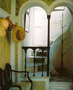 Madeleine Castaing's heart shaped vestibule, Lèves, Chartres, France.