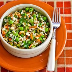Kalyn's Kitchen®: Recipe for Brown Rice and Green Garbanzo Salad wit...