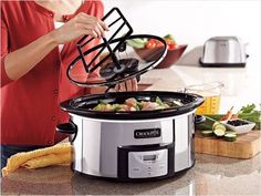 Crock-Pot Digital Slow Cooker with iStir Stirring System: Stirs while it cooks. #Crock_Pot #Self_Stirring