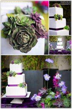 succulent wedding cake   Succulent Wedding Cake