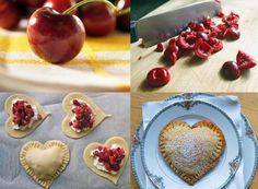 Idea de receta un postre muy sencillo con fruta y pasta de hojaldre #Hojaldre #Milhojas #Corazón #Love #Lunch # Detalle