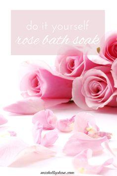 rose bath soak DIY