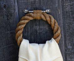 nautical rope towel ring